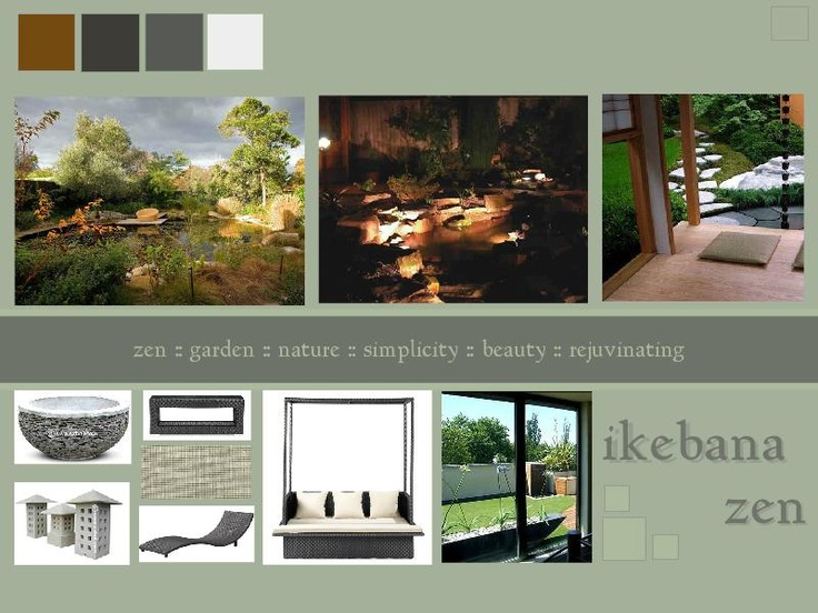 zen garden design harmonizing humanity & human space with that of nature and flora. #moodboard #garden