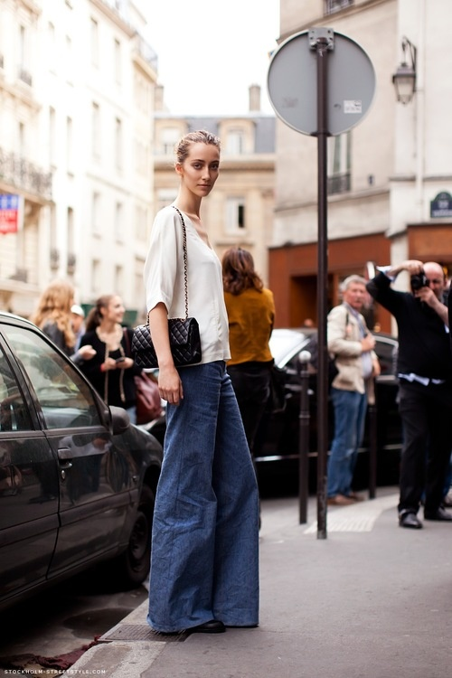 I'm a big fan of wide leg pants for fall. There's something relaxed and automatically stylish about them.