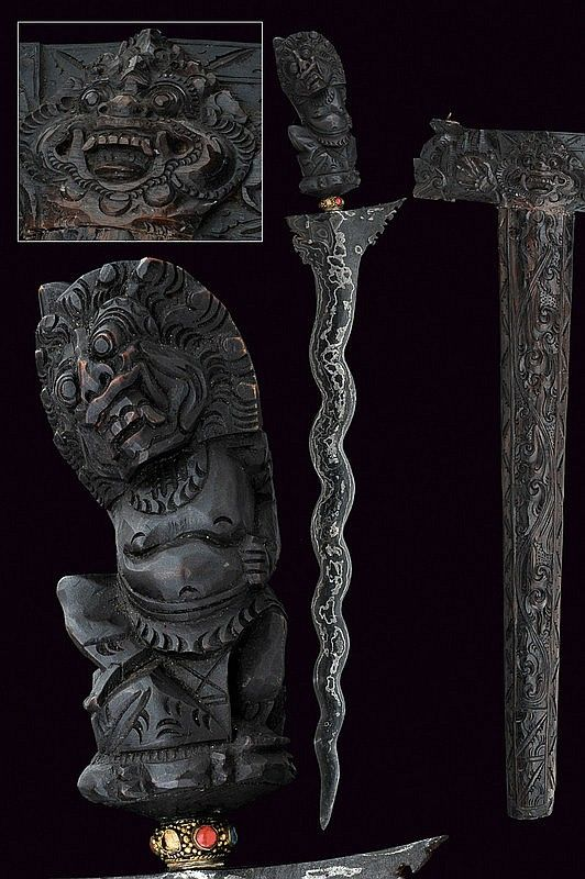 A Keris, ancient sword in Bali, ca 19th century.