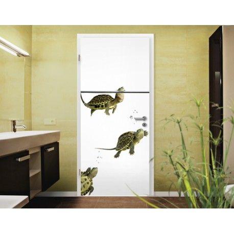 Úszkáló teknősök - ajtóposzter