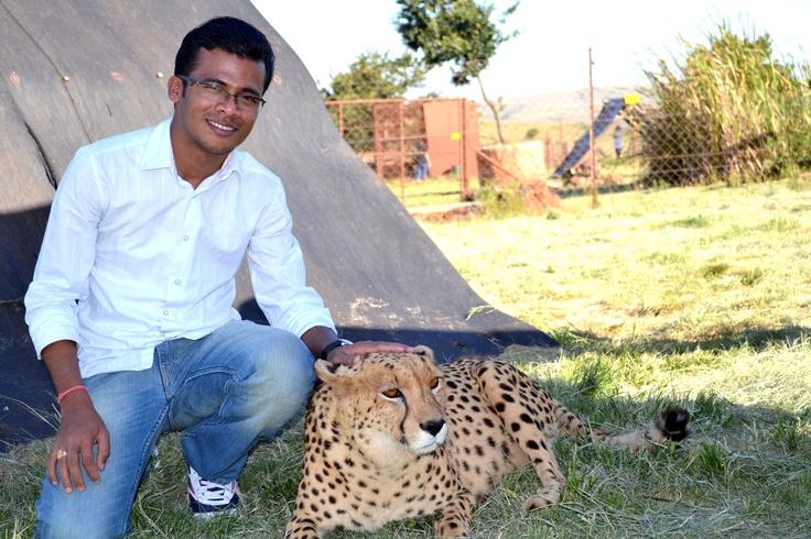 Spending time with Cheetah at Rhino & Lion Park, Gauteng