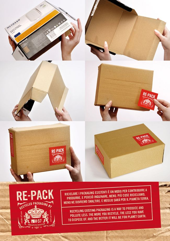 Do this with all kinds of boxes to create less visual clutter!}...  packing box turned inside out = a clean slate!