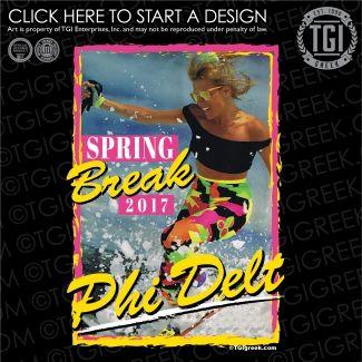Phi Delta Theta | ΦΔΘ | Spring Break | Spring Break Shirt | TGI Greek | Greek Apparel | Custom Apparel | Fraternity Tee Shirts | Fraternity T-shirts | Custom T-Shirts