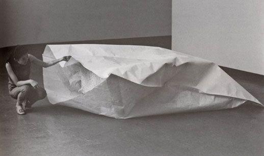 Susumu Koshimizu  Paper (formerly Paper 2), 1969/2012  Paper (hempen paper), granite