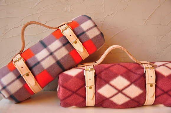 Porta cobertor/toalha de picnic