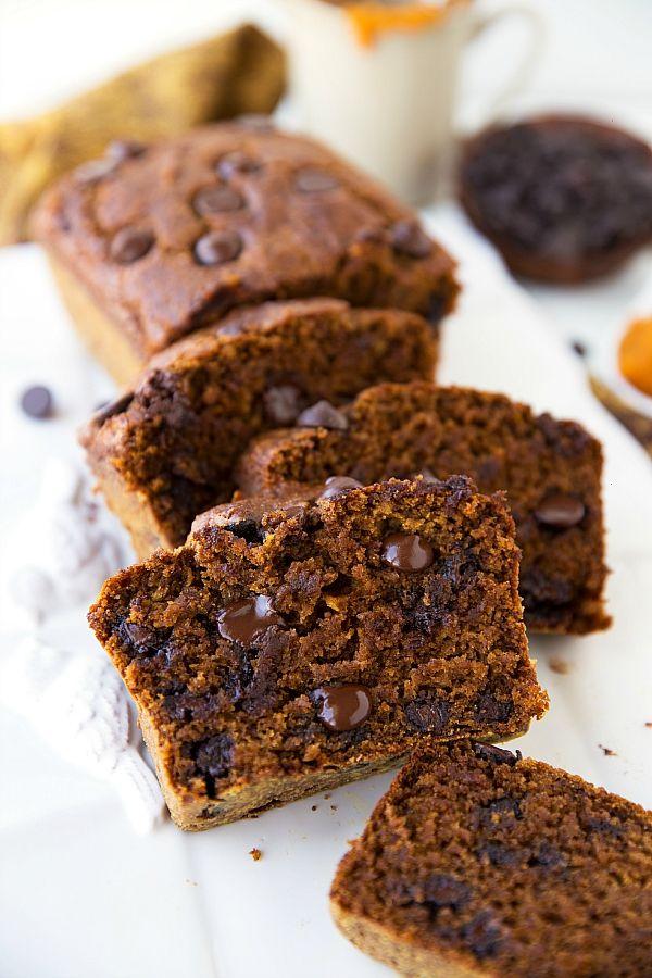 Chocolate Chip Bread: The best-ever healthy Greek yogurt pumpkin bread ...