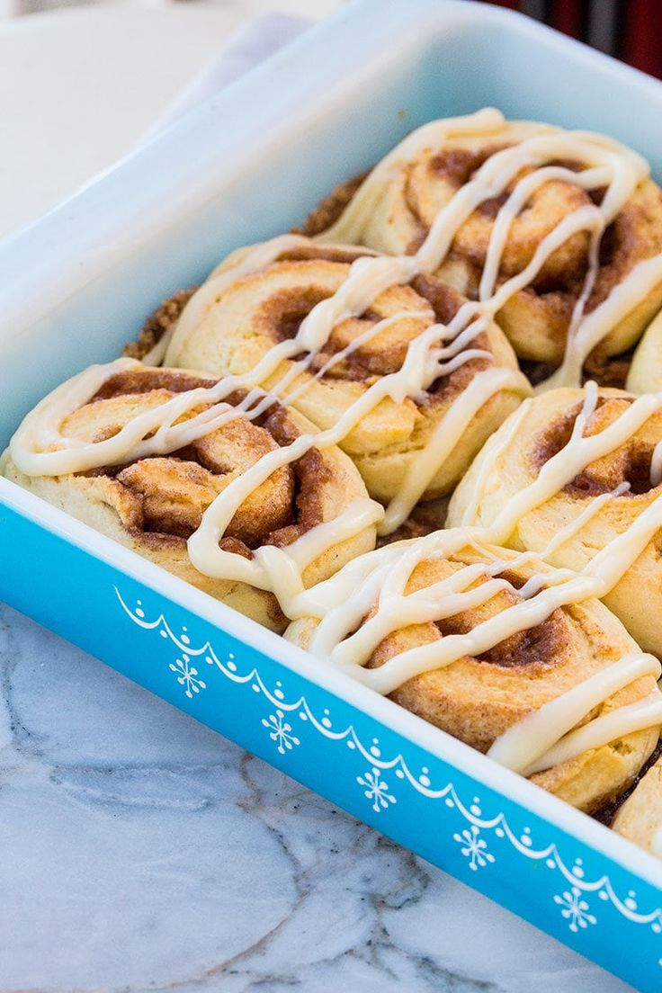 Fast and Fluffy No Rise Cinnamon Rolls- which means no yeast, which makes them perfect for an emergency morning cinnamon bun!