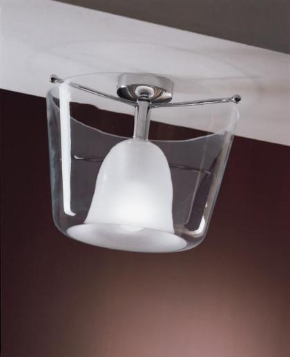 #conca #ceilinglamp made of glass by #seleneilluminazione