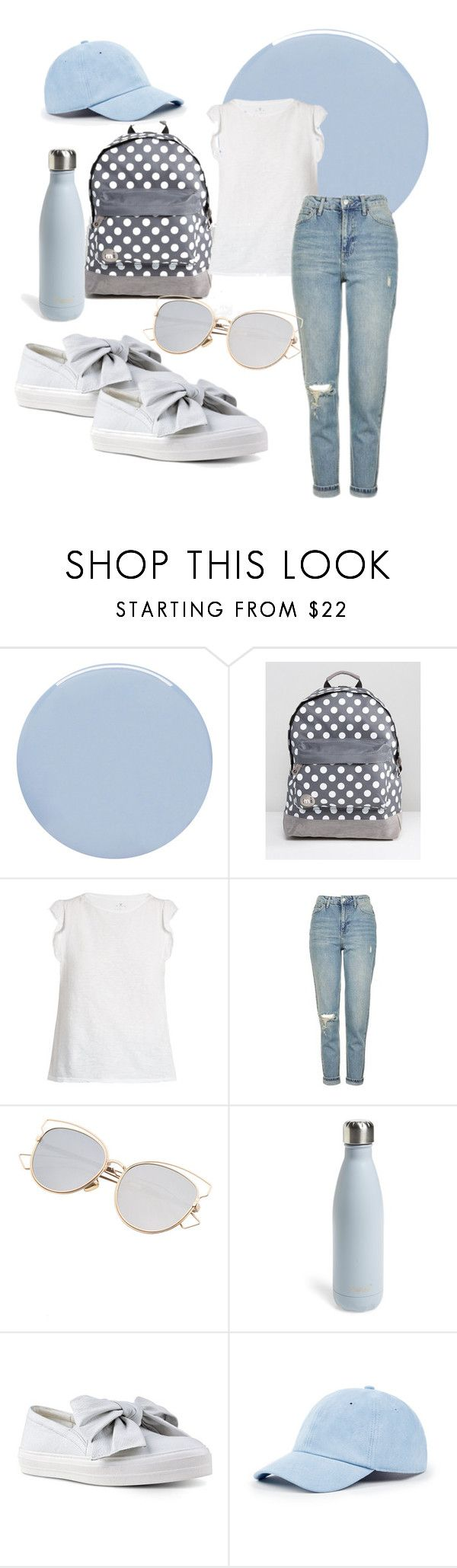 """walking light"" by alpha-b ❤ liked on Polyvore featuring Deborah Lippmann, Mi-Pac, Velvet by Graham & Spencer, Topshop, S'well, Nine West and Sole Society"