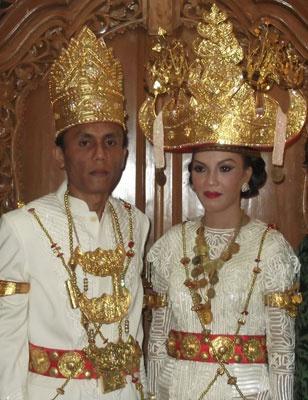 Lampung wedding costume (Indonesia)