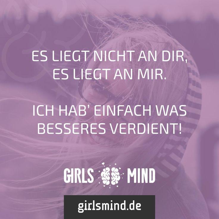 Ihr habt nur das Beste verdient. Mehr Sprüche auf: www.girlsmind.de #trennung #beziehung #ende #verdienen #selbstbewusstsein #selbstvertrauen #stolz #schlussmachen #beenden #liebe