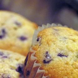 Easiest blueberry muffins ever. Great for making with toddlers. I use frozen berries for added simplicity.