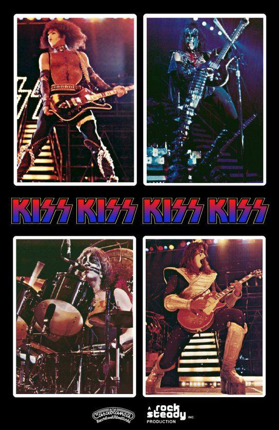 KISS Double Platinum 8 x 10 Photo Set Stand-Up Display por kiss76