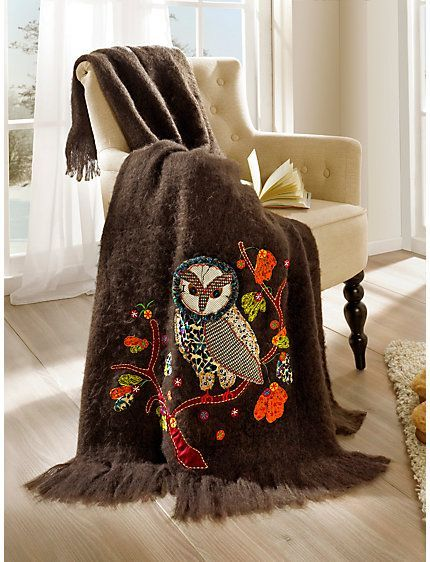 cuddly blanket with owl <3