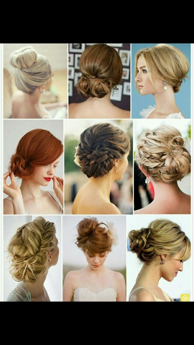 Wedding up do's.  bottom right and top middle only. <3