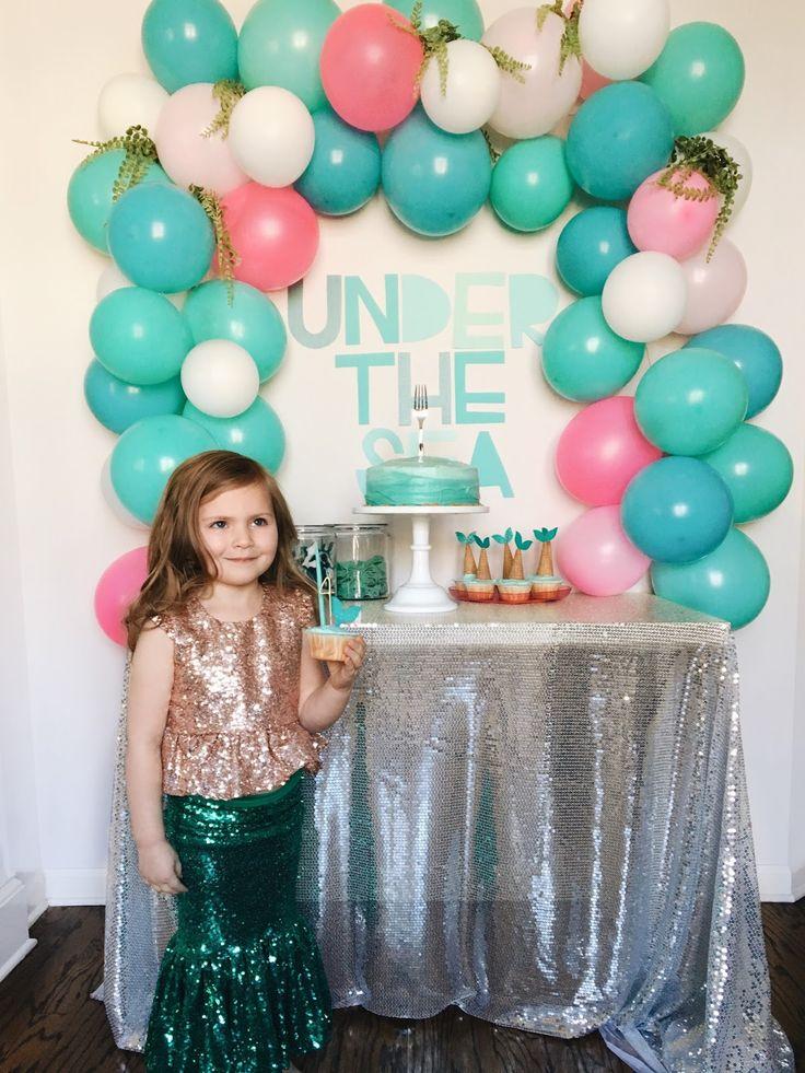Little Baby Garvin: Harper's Mermaid Inspired 4th Birthday Party