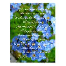 Forget-me-not Cute #Vintage Christian #Nursery #Rhyme Floral #Postcard