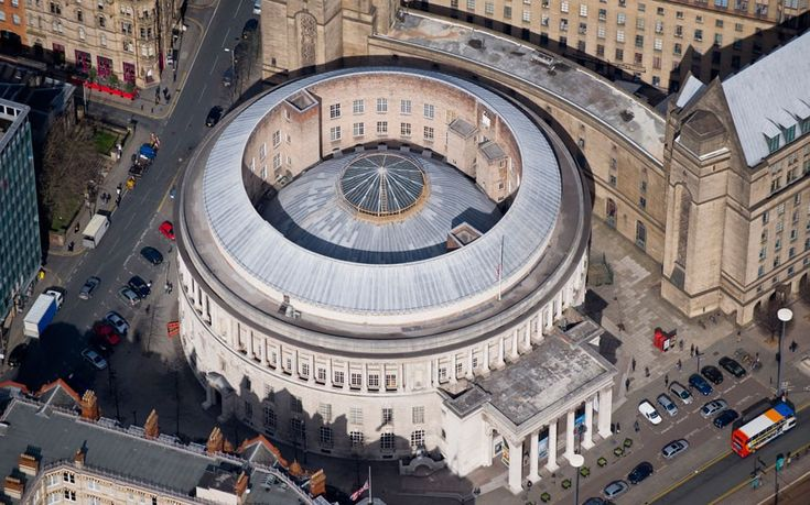 The Manchester Central Library was inspired by the Pantheon in Rome. Its neo-classical grandeur hides the fact it was built in the 1930s. Britain from Above: Month by Month published by Dorling Kindersley