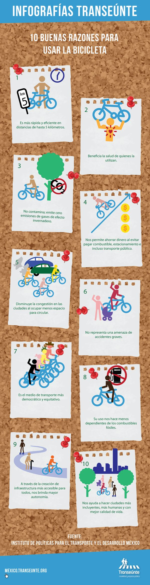 10 buenas razones para usar la bicicleta como medio de transporte.