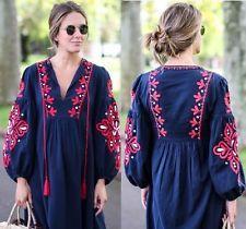 Zara long navy dress