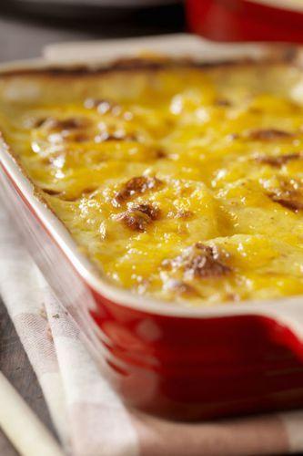 Gratin de courgettes et pommes de terre à la tomme