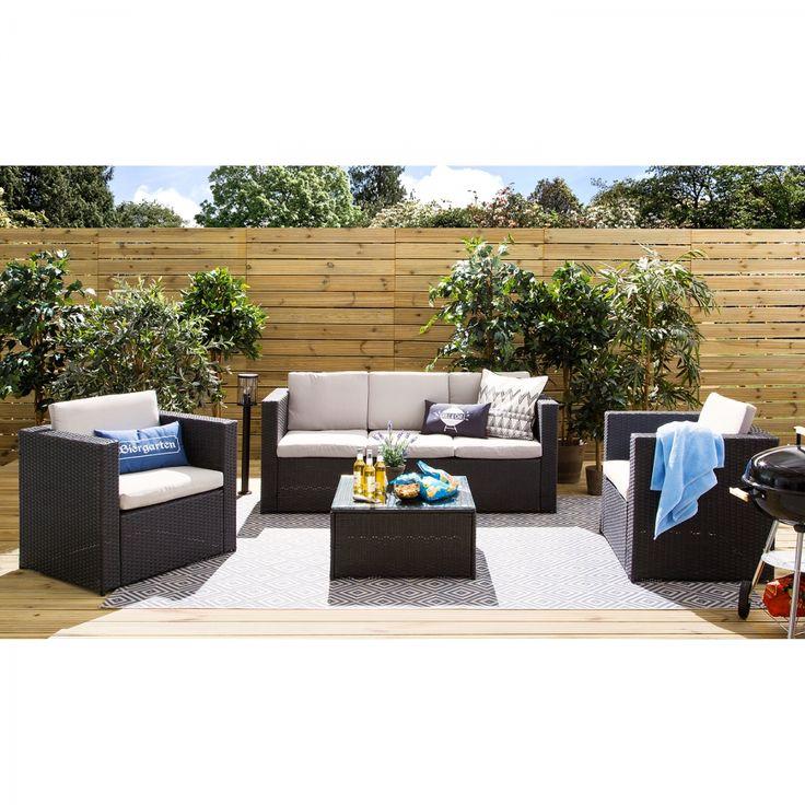 Die besten 25+ Polyrattan sitzgruppe Ideen auf Pinterest Garten - garten loungemobel anthrazit