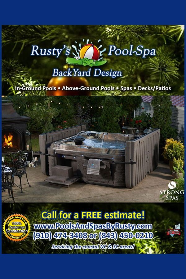 Get A Hot Tub This Winter Myrtle Beach Backyard Design Backyard