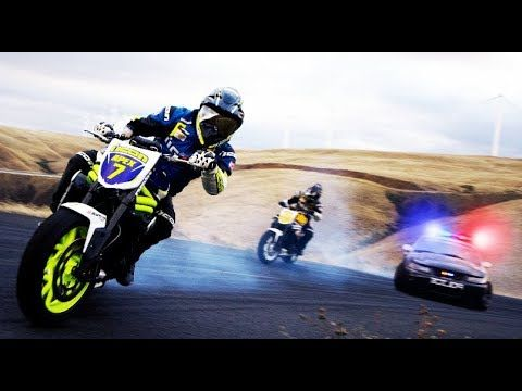 DRAMATIC pursuit motorcycle vs cop - biker vs Police Chases [MOTO VS COP...