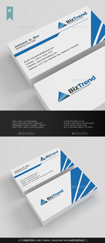Business Card Template #design Download: http://graphicriver.net/item/business-card-v002/12105734?ref=ksioks
