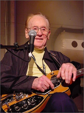 this is les paul hes the one who invented one of the first electric guitars