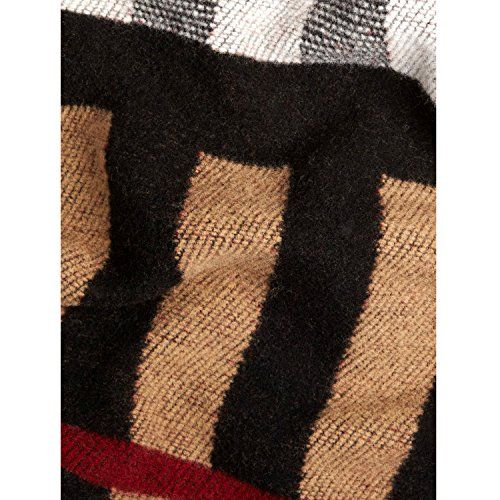 Authentic Burberry Classic Check Wool Cashmere Blanket Scarf Unisex Winter Long Scarf