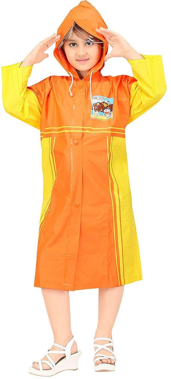 Real Orange & Yellow Baggy Printed Raincoat #Orange  #Yellow #Raincoat