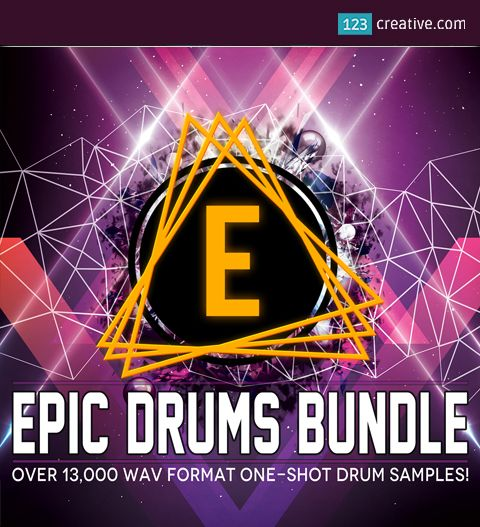 ► EPIC DRUMS BUNDLE - 13 458 DRUM & PERCUSSION SAMPLES - for all genres of electronic music. This collection spans 20+ years of sound design experience. 13 458 samples, which covers variety of drum sounds from classic to modern, downtempo to drum and bass. Product page: http://www.123creative.com/music-production-bundles/1389-epic-drums-bundle-drum-percussion-samples.html