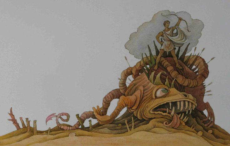 "Olga Monina illustration for ""Myths of Ancient Greece""."