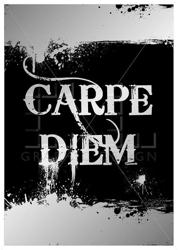 Carpe Diem poster- sieze the day inspirational quote poster by ateliercldesign