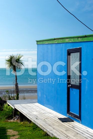 Kiwi Bach by the Beach royalty-free stock photo