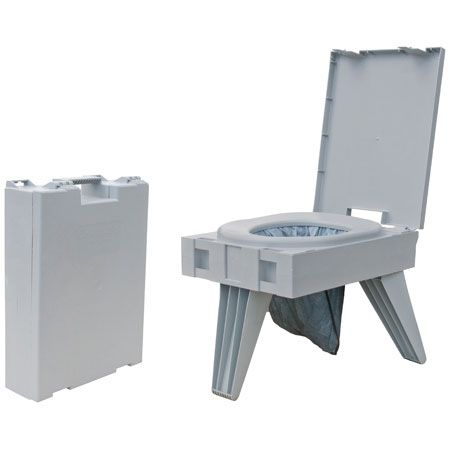Ezygonow-GO-anywhere-Portable-Toilet | Folds to a brief-case size with a built-in handle. 3 - leg design for stability and weighs only about 3kg! #campingtoilet #portabletoilet #outdoors #camping #compact #outdoortoilet #bushtoilet #portapotty