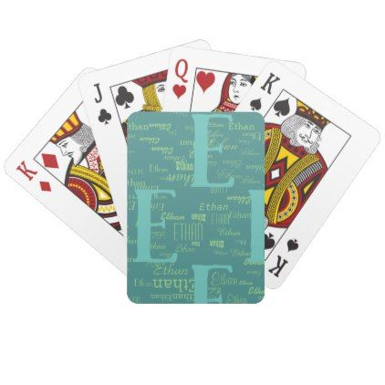 create cool playing cards with your own name - pattern sample design template diy cyo customize