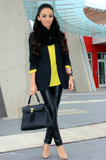 Add some color to your outfit: Neon yellow (by Mayte Hauxwell) http://lookbook.nu/look/3040397-Add-some-color-to-your-outfit-Neon-yellow
