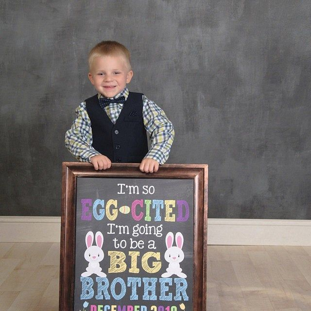 Easter Pregnancy Announcement Sign ~ Big Brother Pregnancy Reveal Photo Prop ~ Some Bunny/'s Going to be a Big Brother ~ Spring Baby