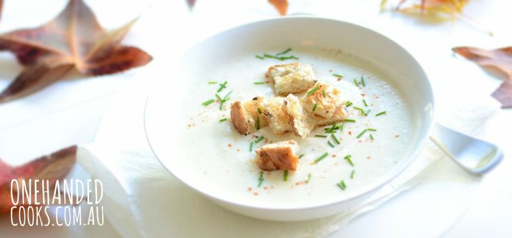 Potato and Cauliflower Soup - One Handed Cooks