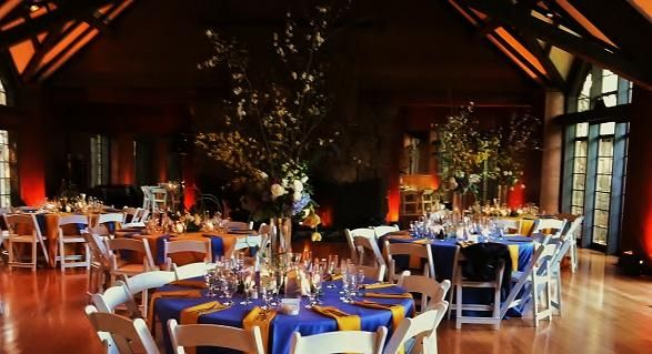 Brazilian Room Wedding Reception With Up Lighting By Qmep