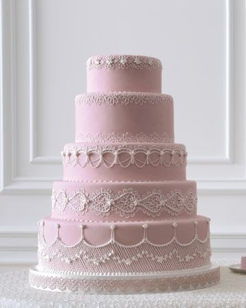 Black currant buttercream cake with pink frosting