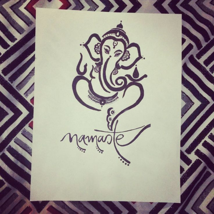 Ganesh tattoo design done by me