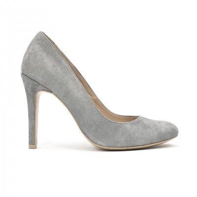 BELLA light grey suede pumps