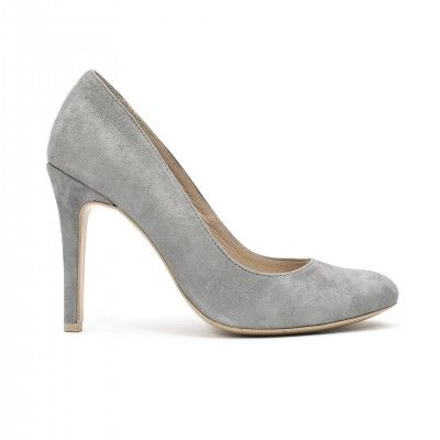 BELLA light grey suede pumps