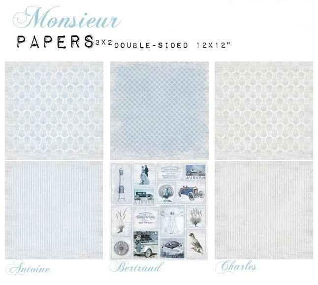 MONSIEUR - zestaw papierów :: UHK Gallery