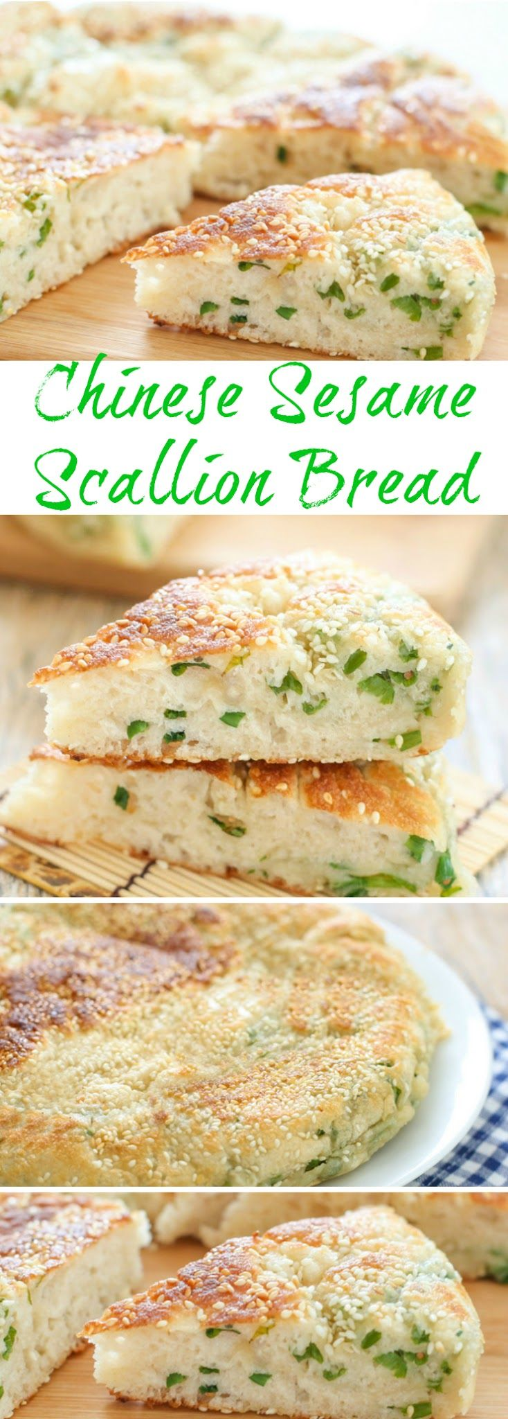 Chinese Sesame Scallion Bread. Includes step by step photos!