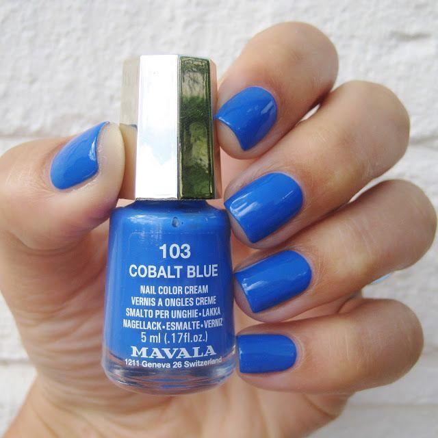 Dahlia Nails showing off her stunning Mavala Cobalt Blue nails