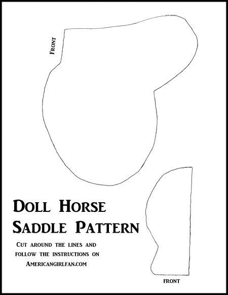 Doll Horse Saddle Pattern
